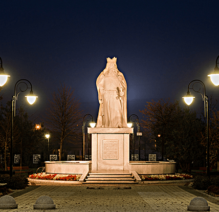 MProjekt Technika Świetlna,Park Kazimierza Wielkiego, Kowal